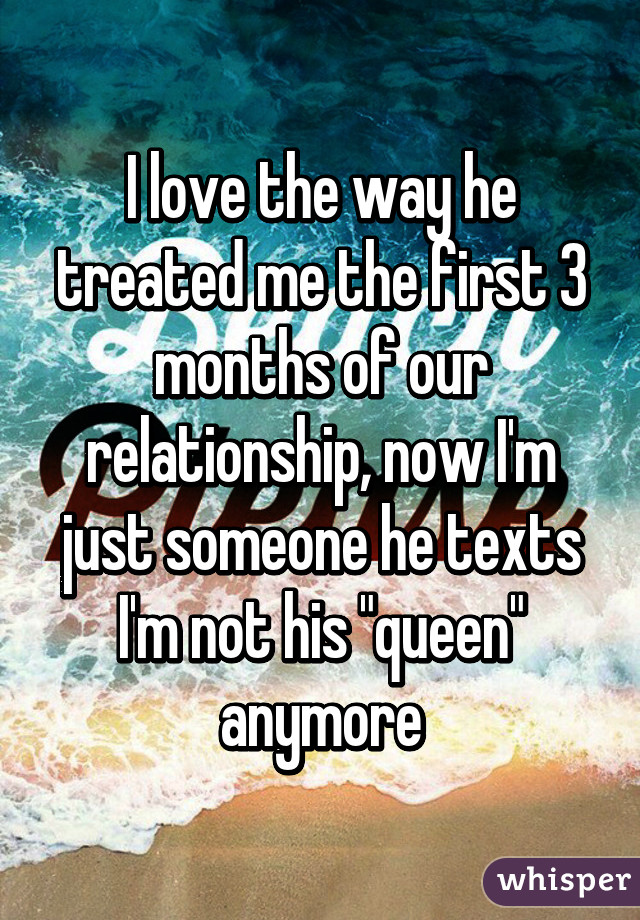 3 months in a relationship