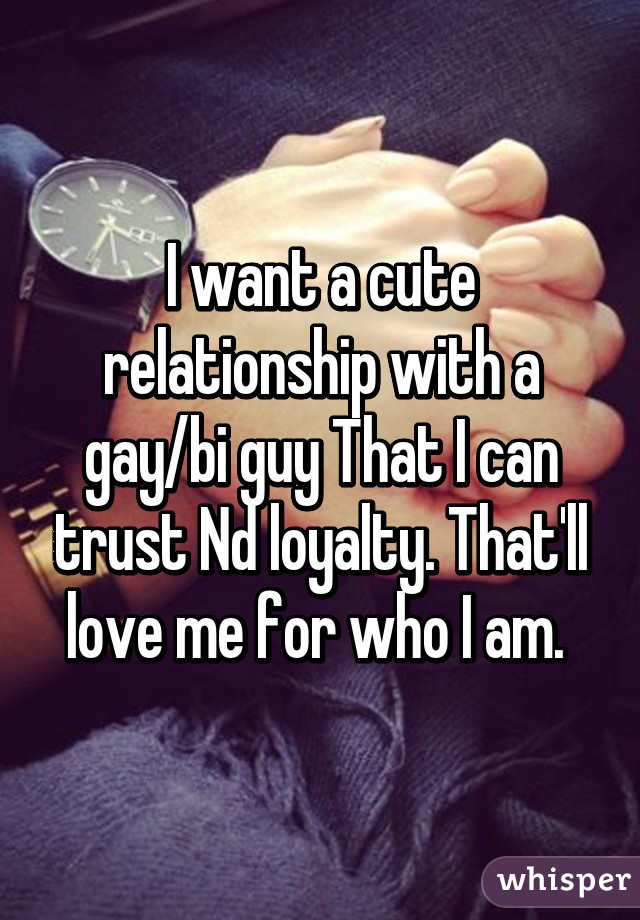 I want a gay relationship