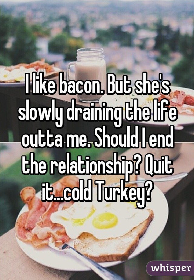 Quitting relationship cold turkey