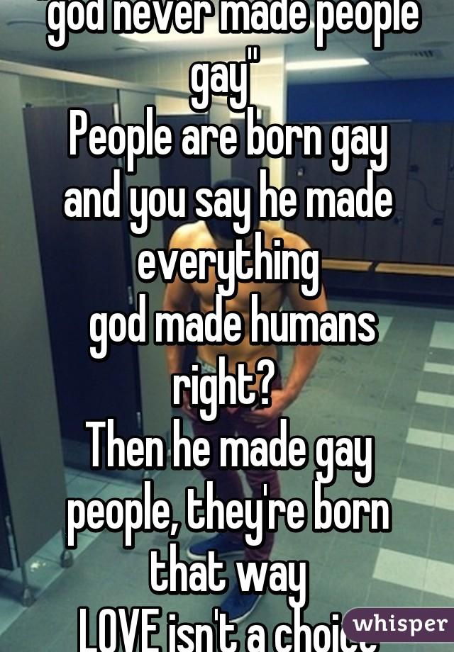 Gays should get along
