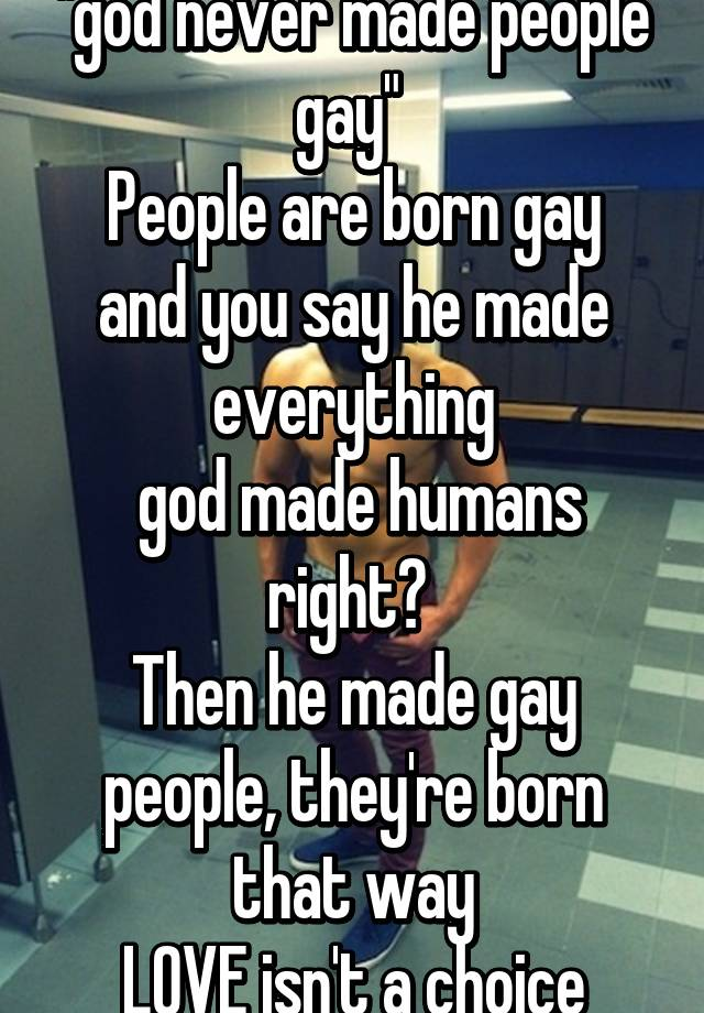from Reed is someone born gay