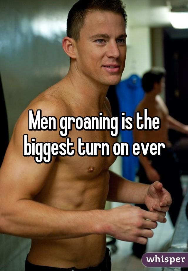 Men groaning
