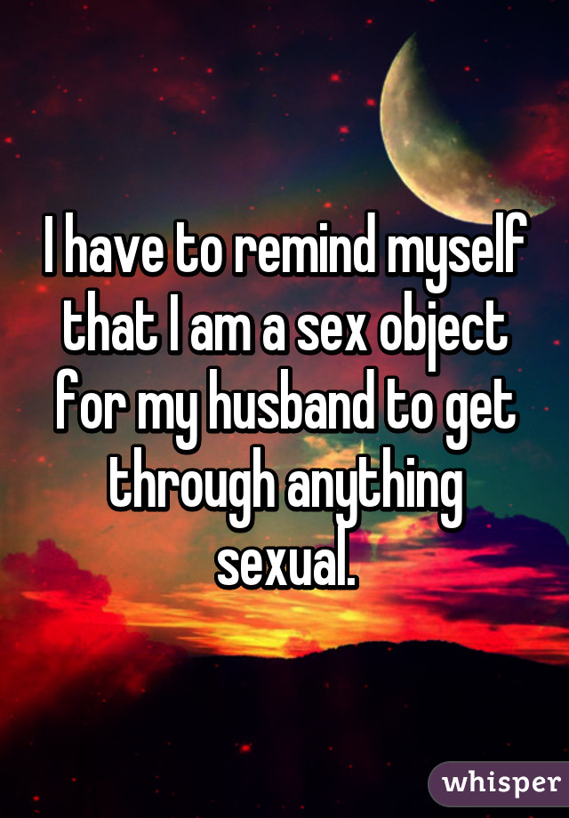 Am i a sex object