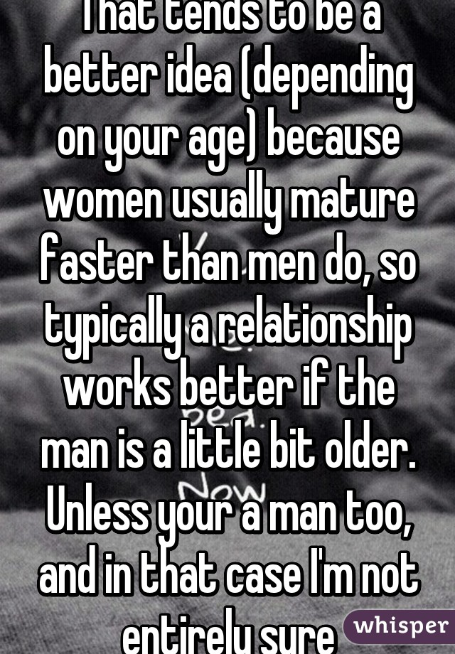 Do Women Mature Faster Than Men