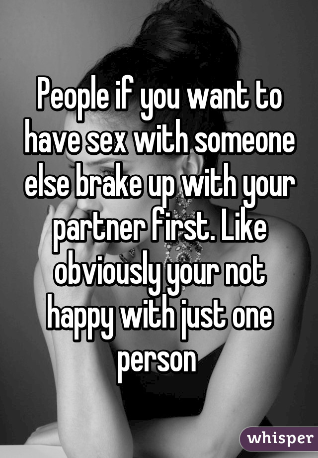 When to have sex with someone