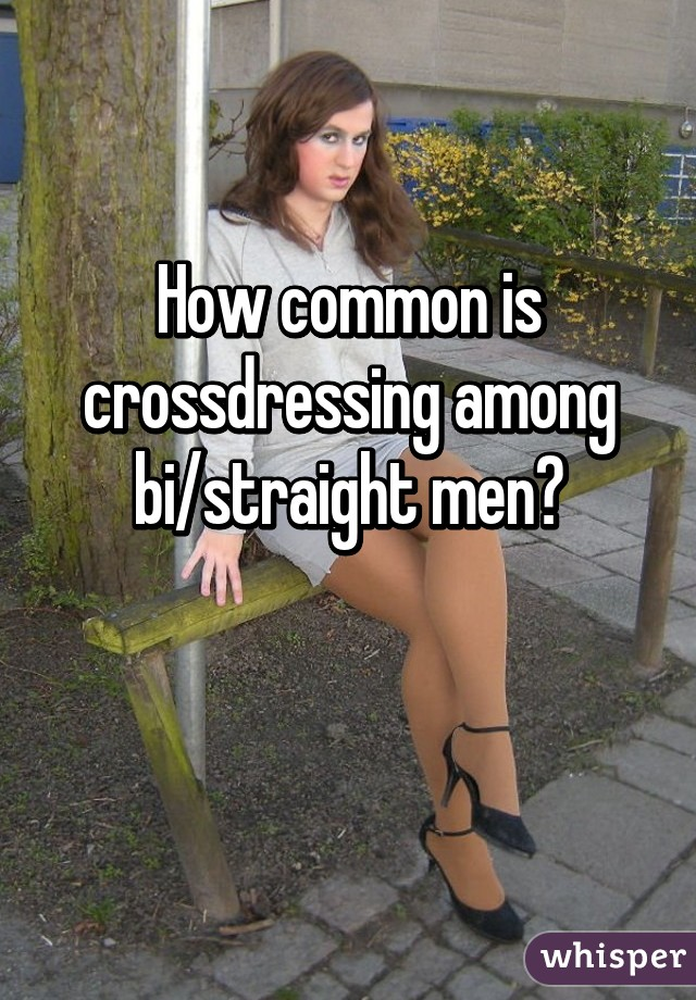 Crossdressing straight