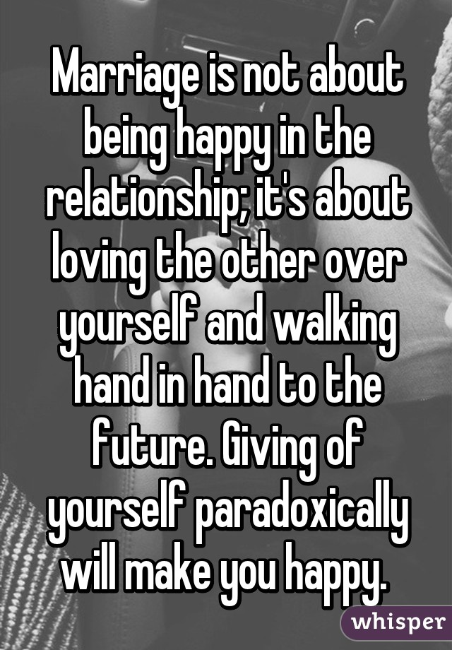 How to make yourself happy in a relationship