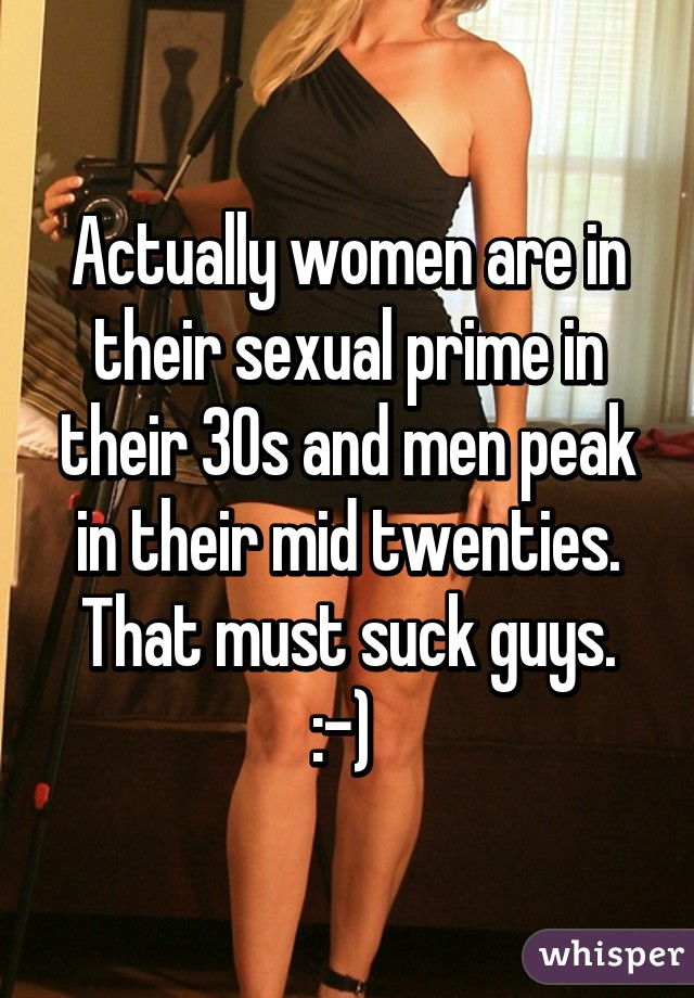 When are women in their sexual prime