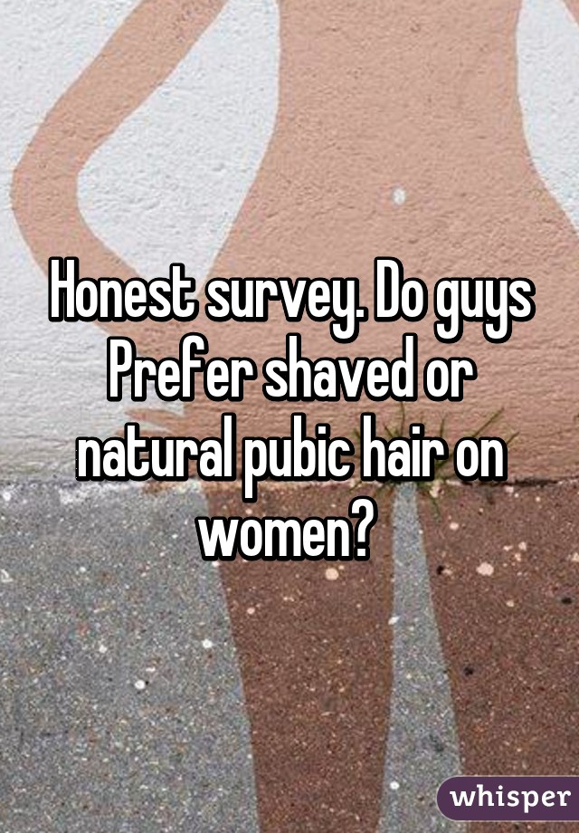 Do women prefer shaved pubic hair