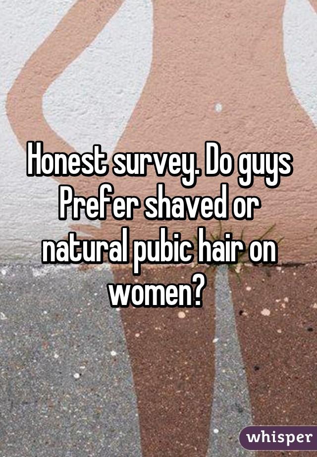 Do women prefer shaved pubic hair