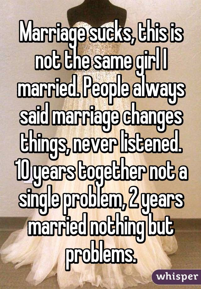 2 year marriage problems