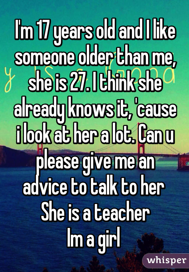 a than me GF lot older is