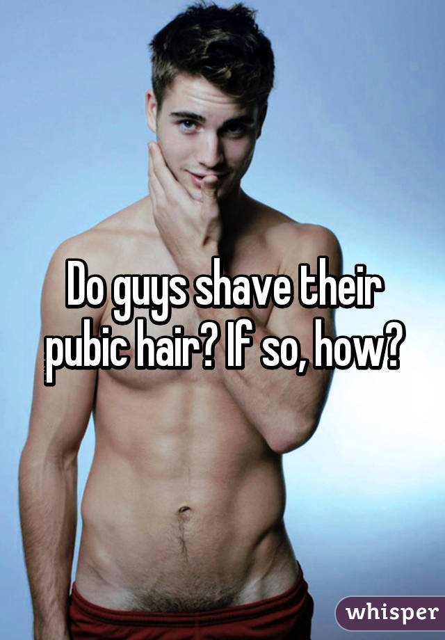 Guy shaves pubic hair