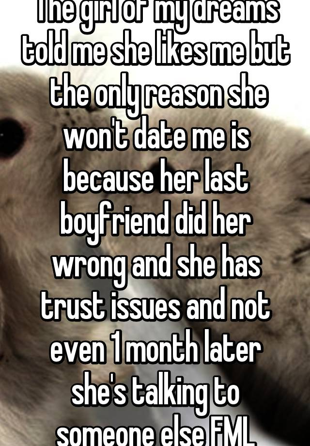 Dating a guy who has trust issues