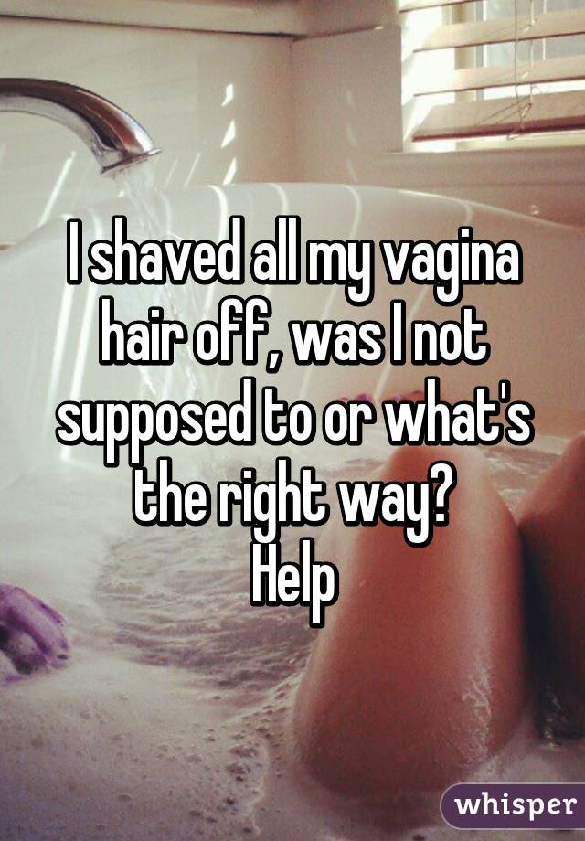 Shaved or not
