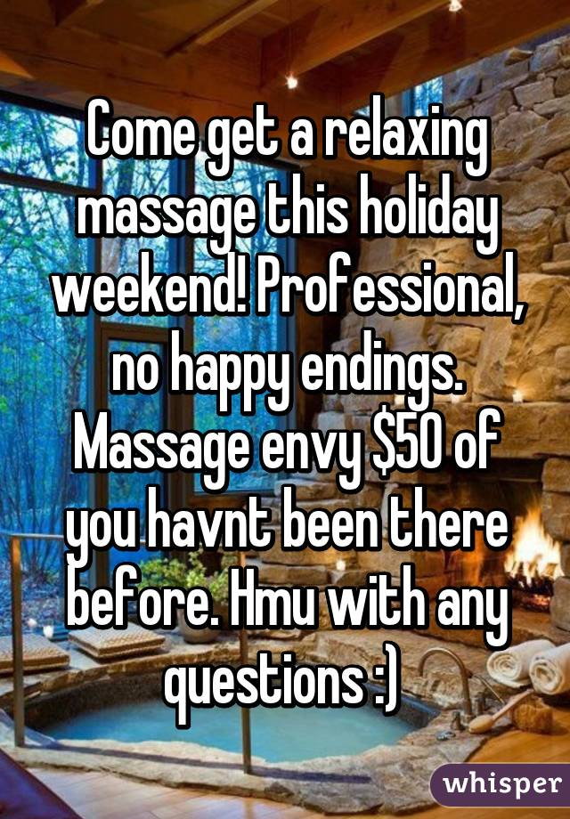 How to get a happy ending massage envy
