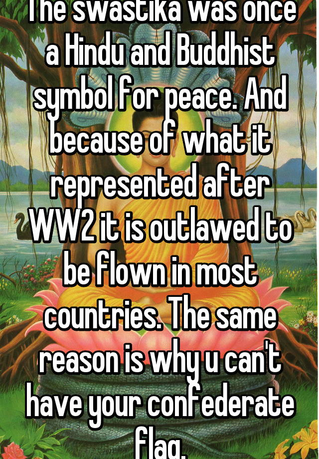 The Swastika Was Once A Hindu And Buddhist Symbol For Peace And