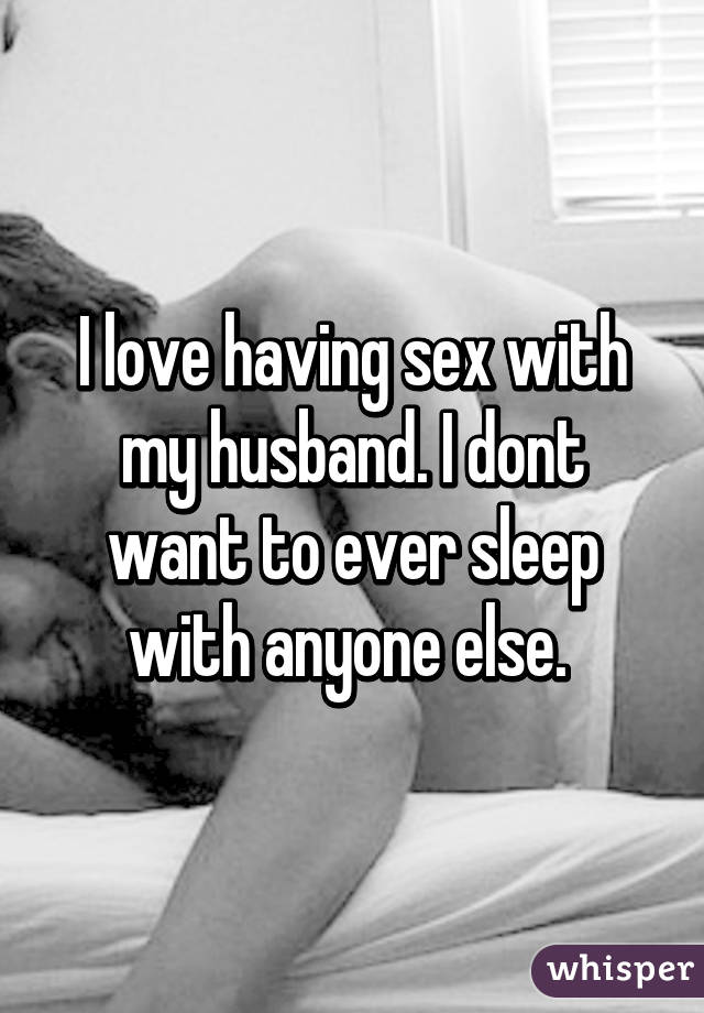 i want to have sex with my husband
