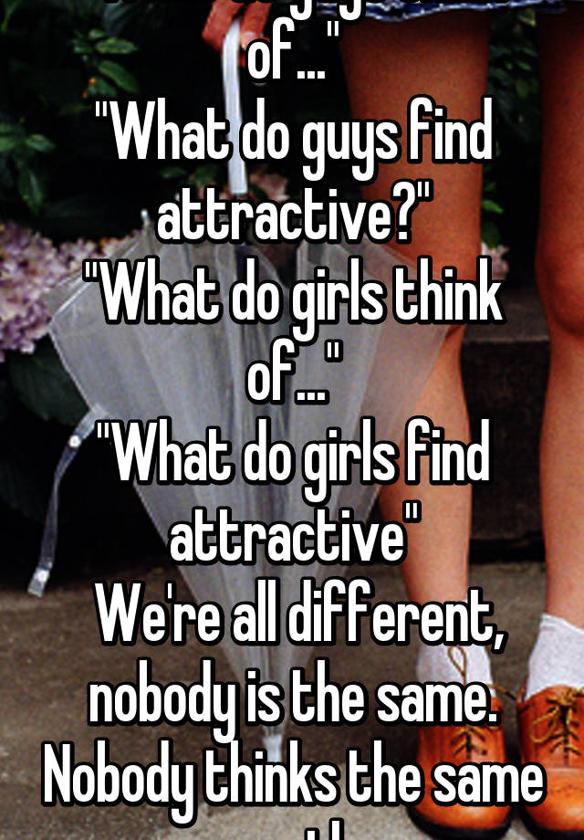Sexy guys think What do is