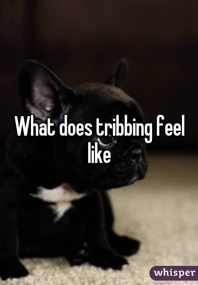 What does tribbing feel like