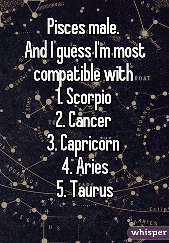 What sign is most compatible with pisces man