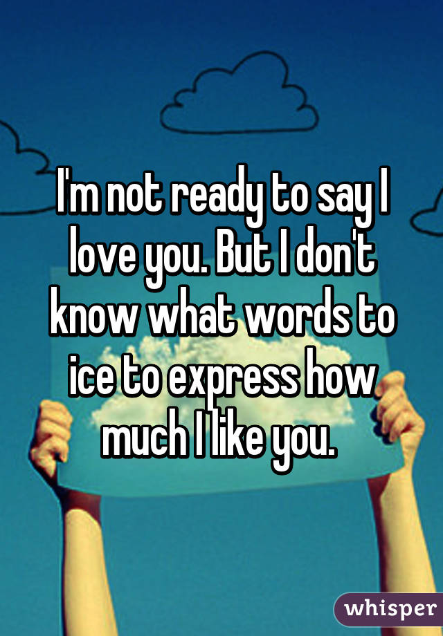 Not Ready To Say I Love You