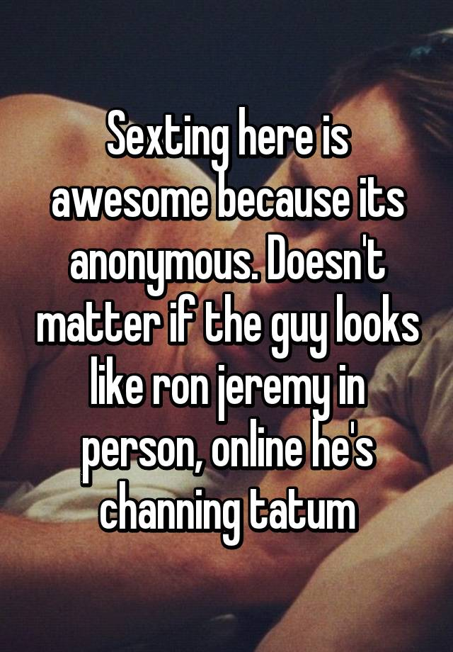 Anonymous sexting online