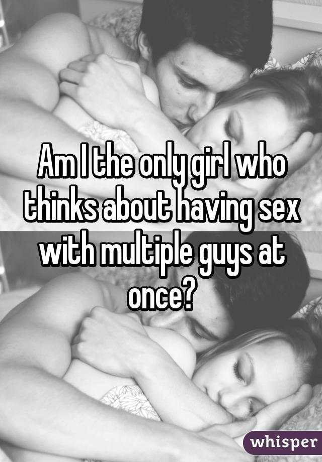 Girl having sex with multiple guys