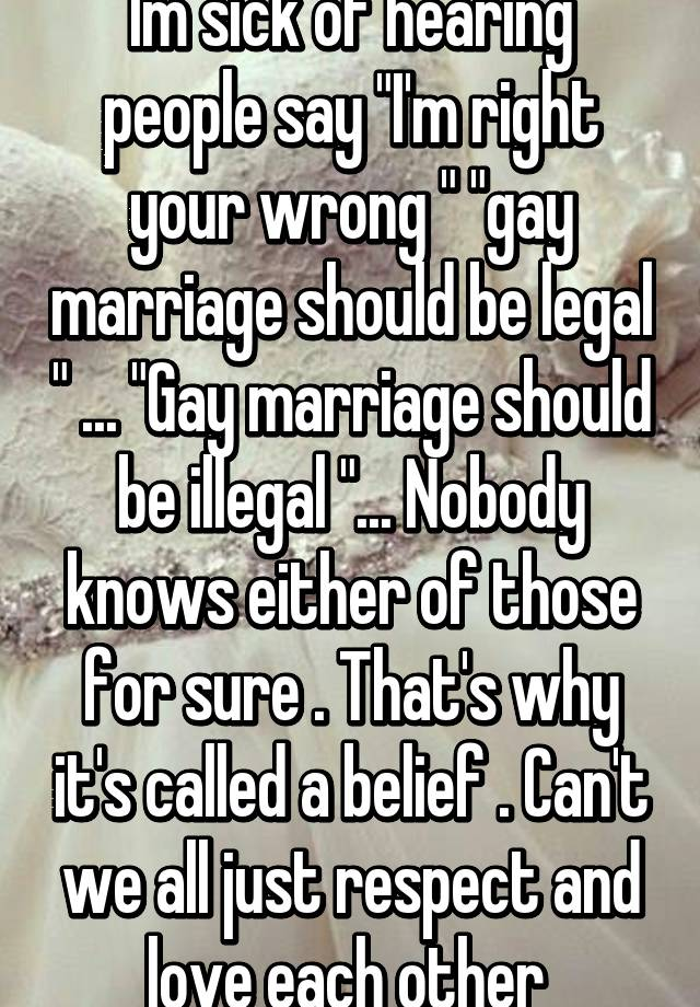 should gay marriages be legalized essay Should we promote and legalize gay marriages this question has already become the subject of the most ardent debates california has fueled a new wave of opposition, having recently legalized gay marriages within its state borders.