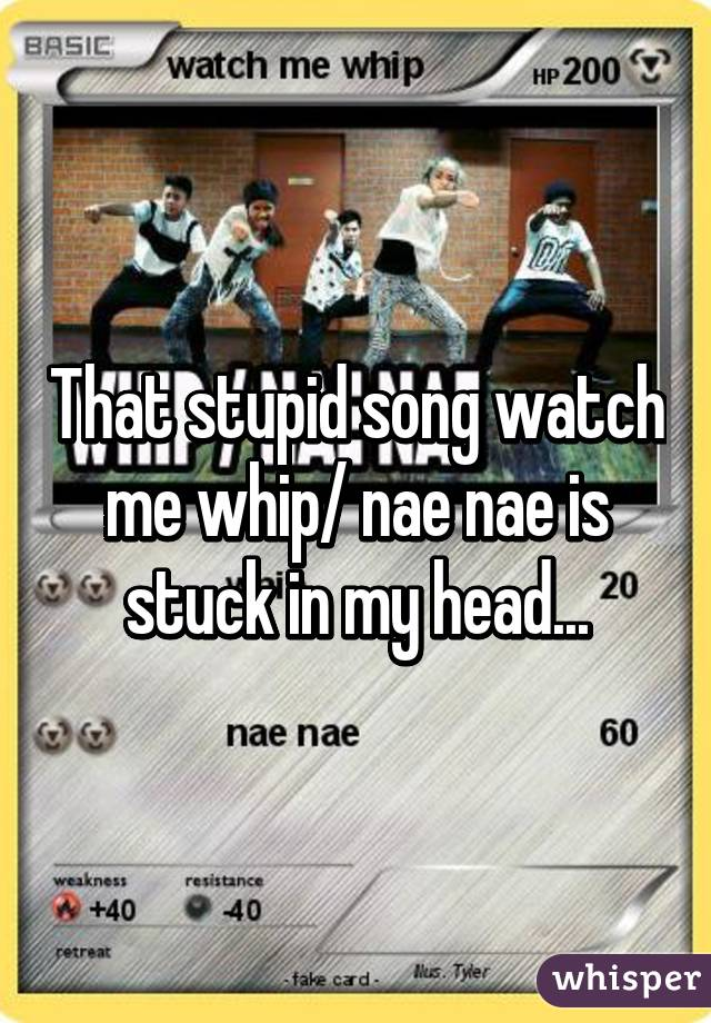 that stupid song watch me whip nae nae is stuck in my head