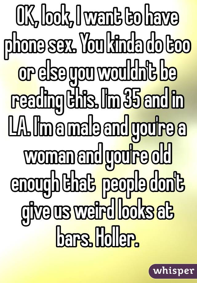 People who want phone sex