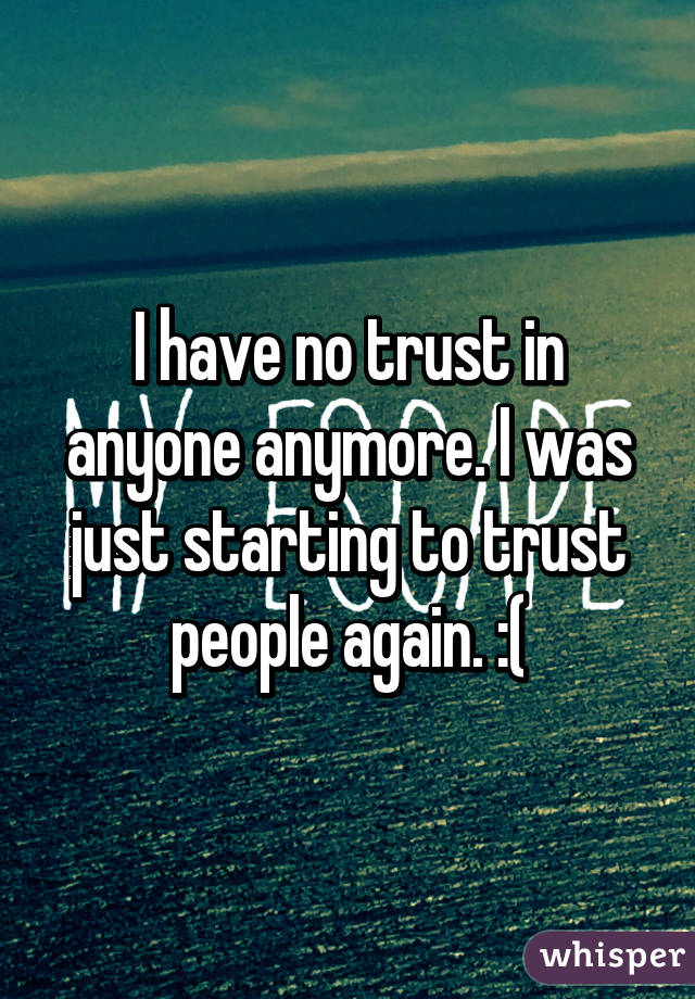 What Happens When There Is No Trust Anymore?