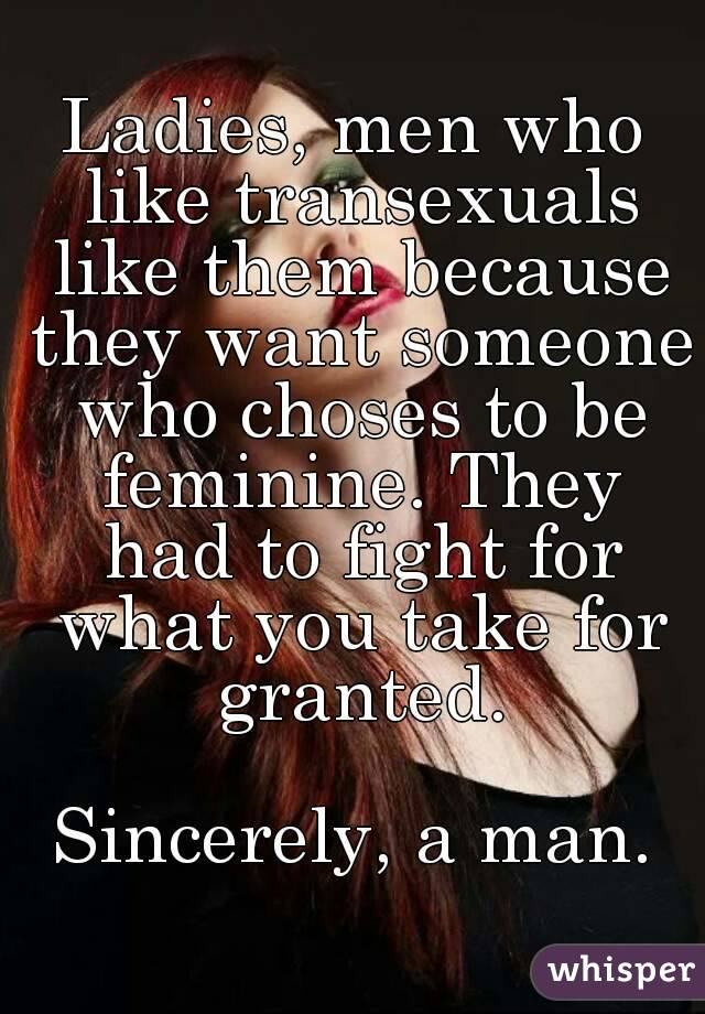 Men who love transexuals