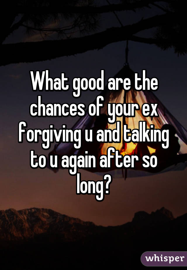 Forgiving your ex