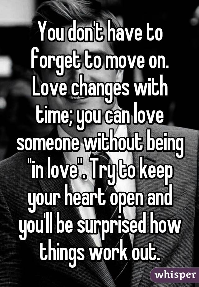 How to move on in love
