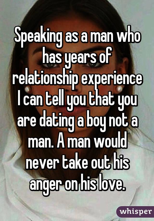 dating a boy not a man