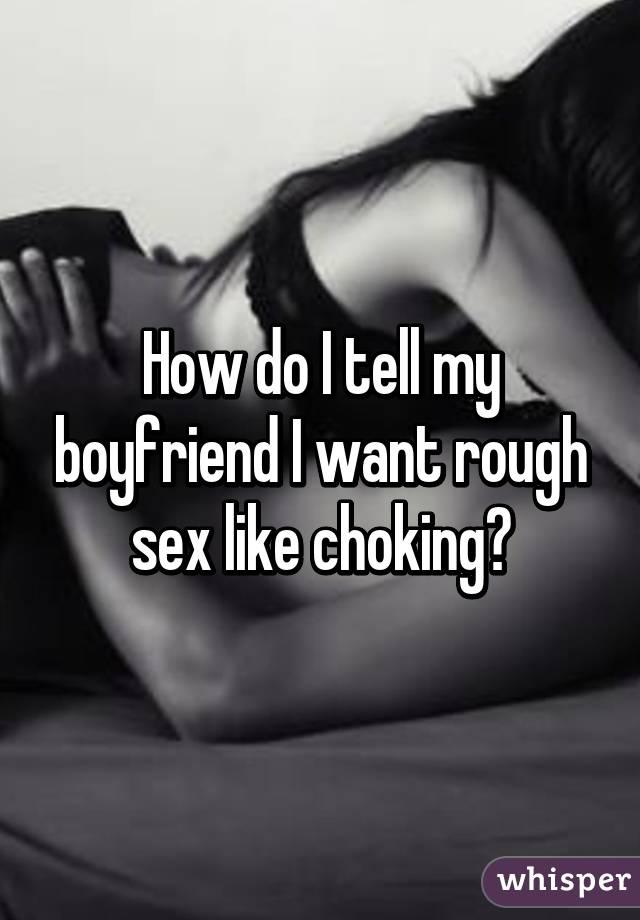 Rough choking sex