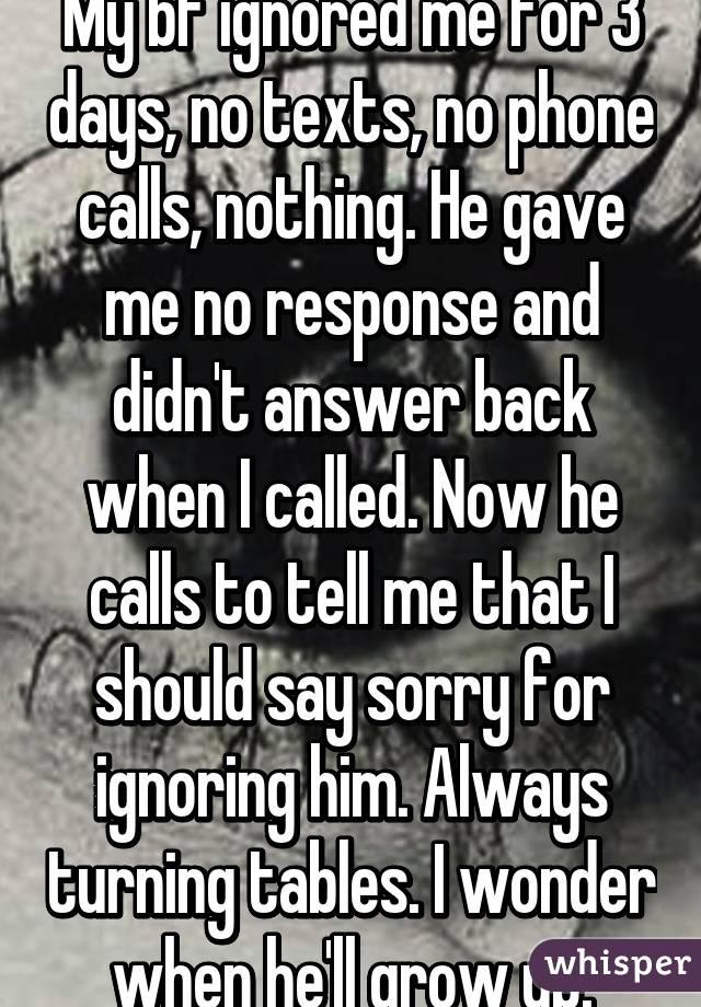 Ignoring my boyfriend texts