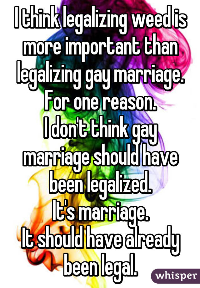 Three Reasons Why Gay Marriage Should Legalize