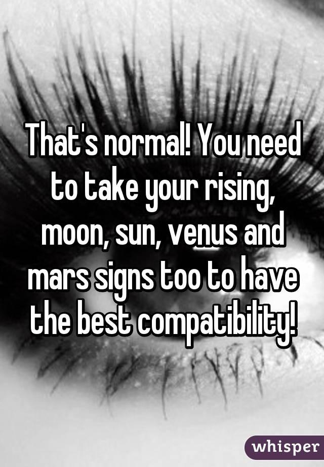 Venus sun compatibility