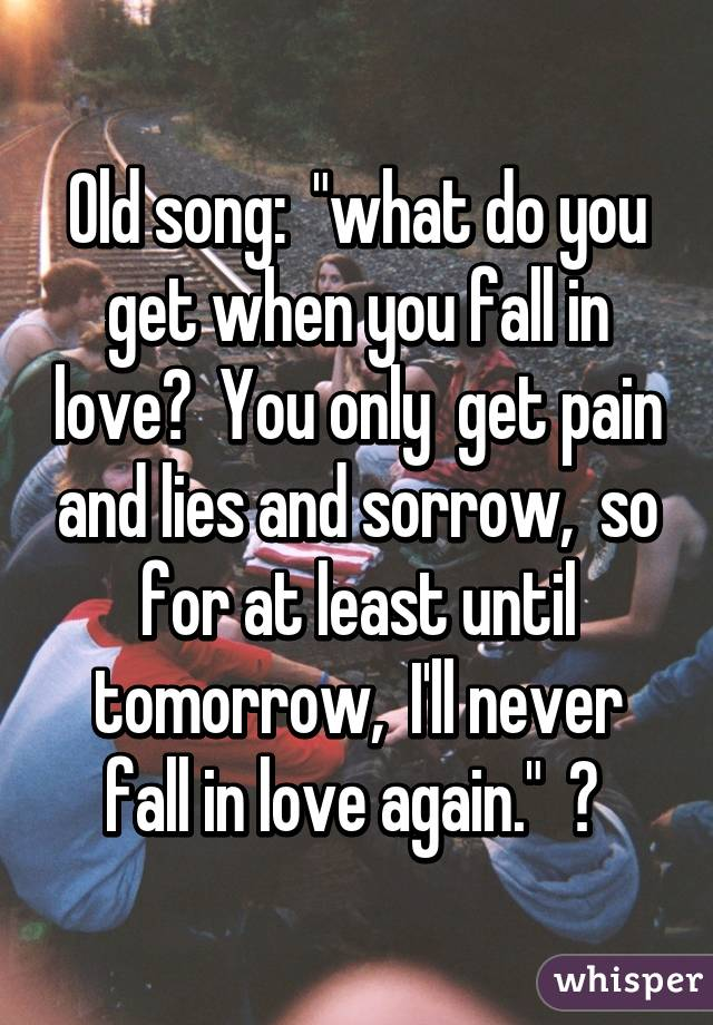 I will love again song