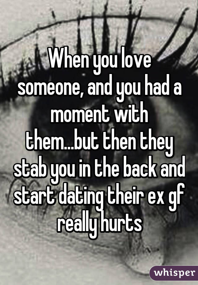 Dating someone in love with their ex
