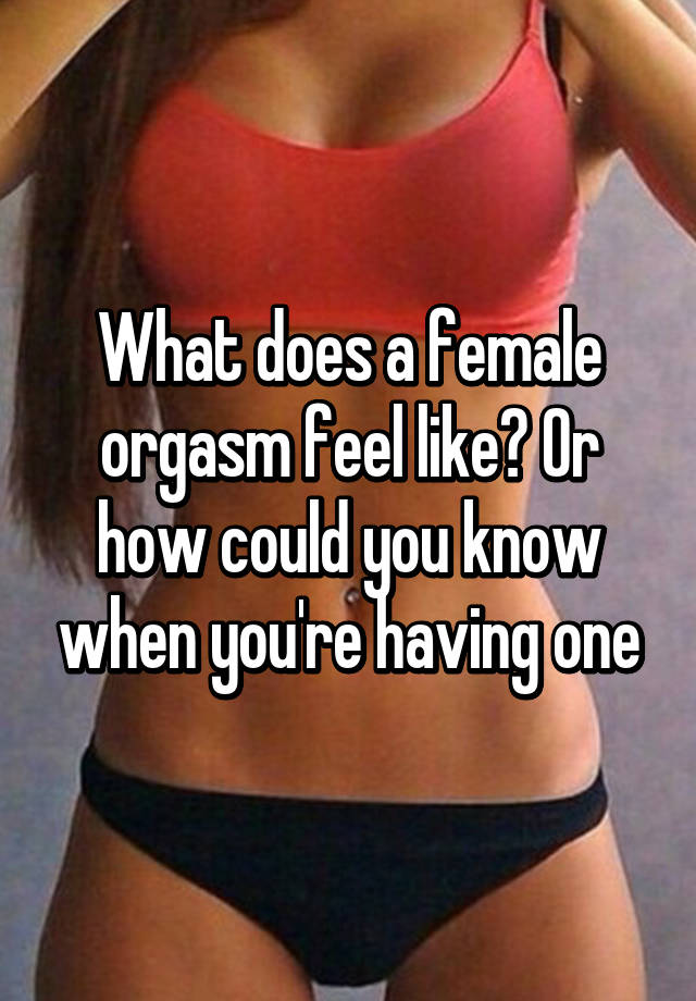 what does orgasm feel like for a woman