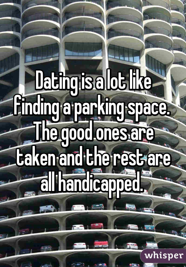 Dating Is A Lot Identical Finding A Parking Space