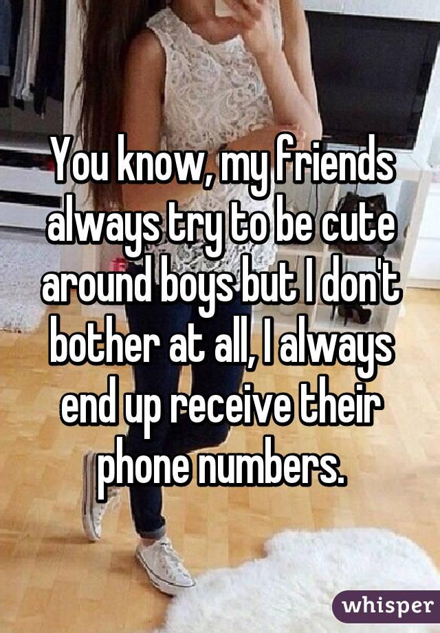 cute boys numbers