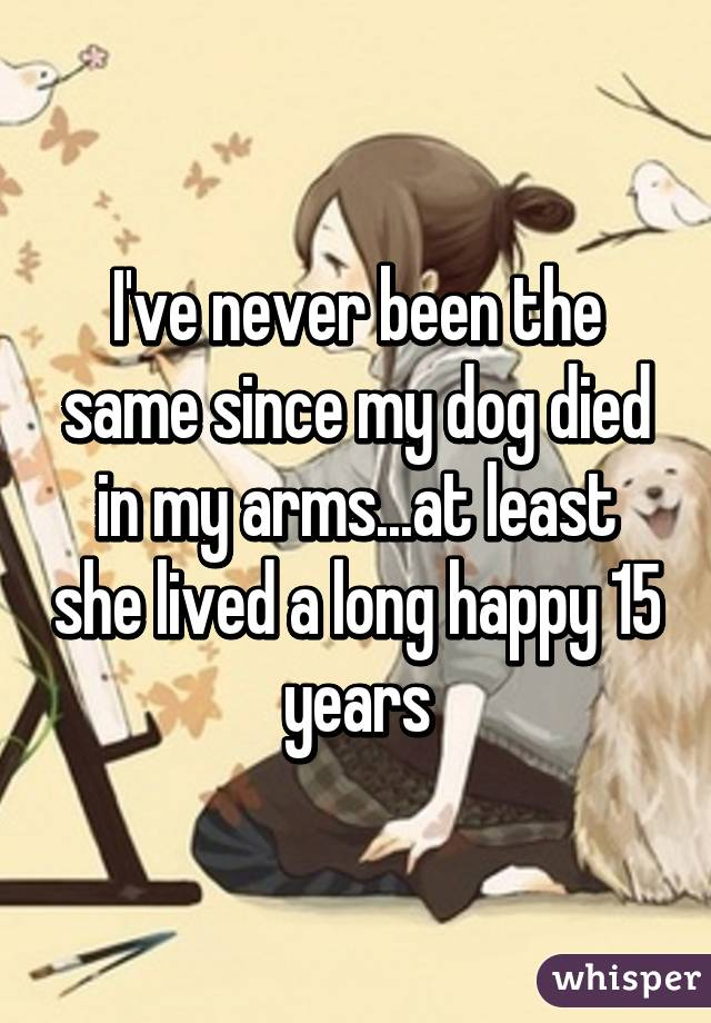 my dog died in my arms