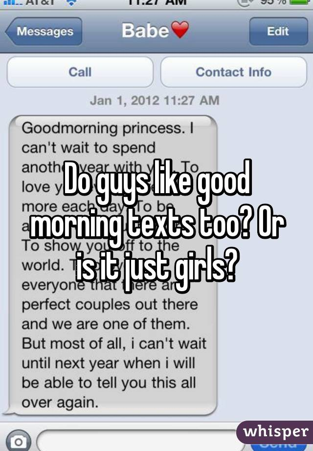 Morning text to a girl you like