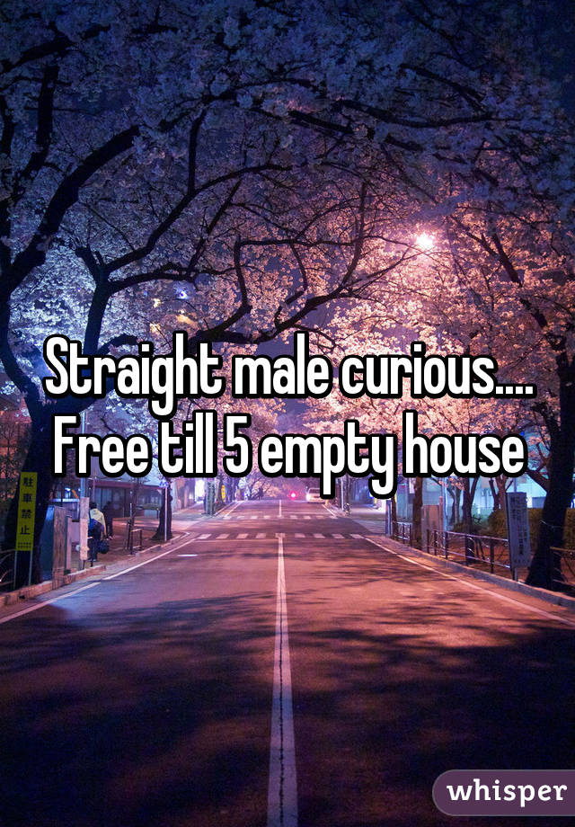 Straight male curious.... Free till 5 empty house