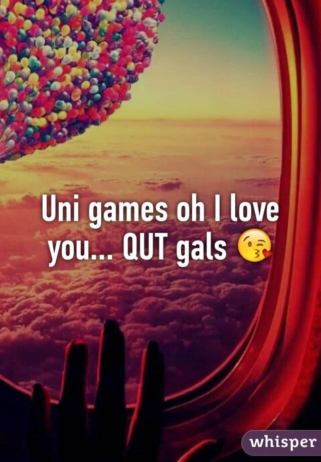 Uni games oh I love you... QUT gals 😘
