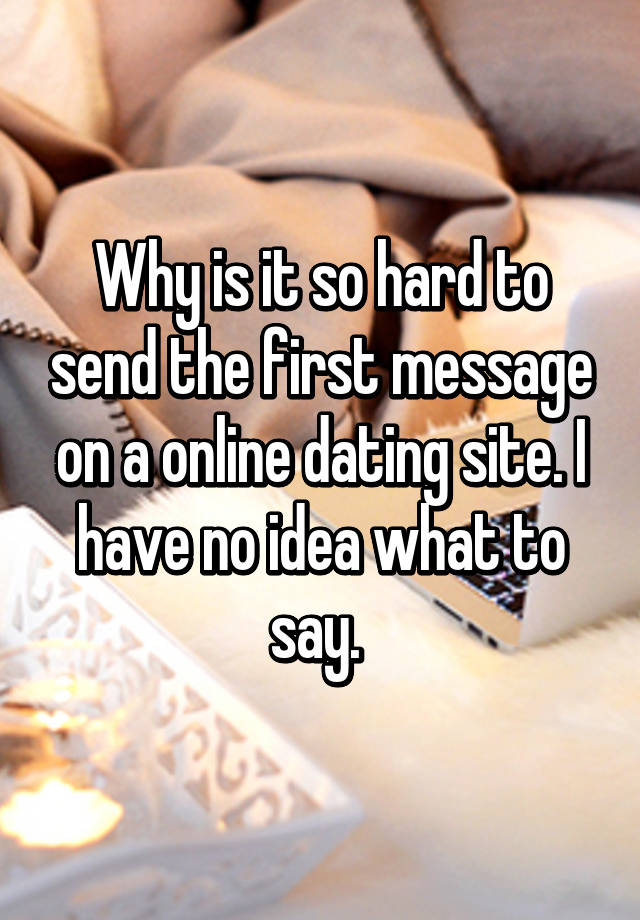 How to send a message on online dating site